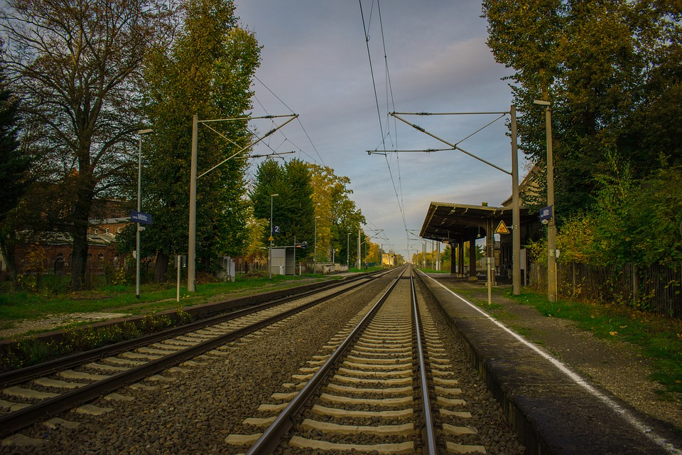 Railway, Station, Platform, Transport, Transportation