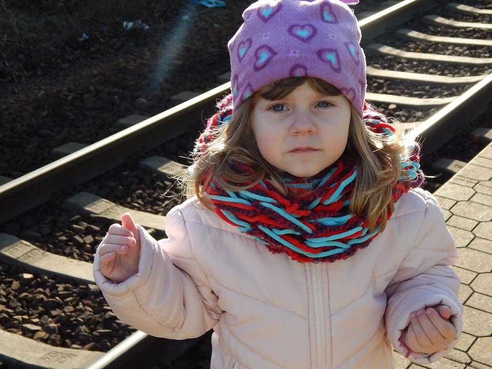 Walk, Track, Girl, Railway