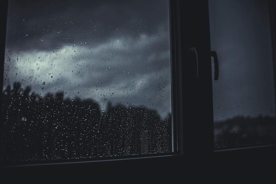 Dark, Rain, Raindrops, Wet, Window, Gloomy, Blue Rain