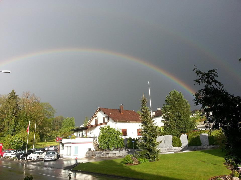 Rainbow, Rain, Mood, Natural Phenomenon, Weather