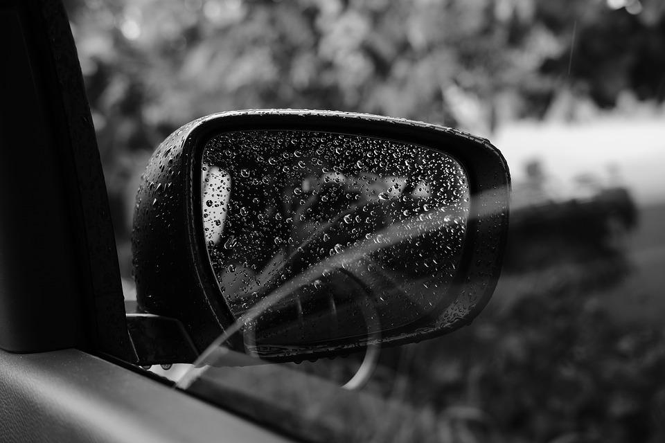 Rain, Side Mirror, Car, Window, Mirror, Transportation