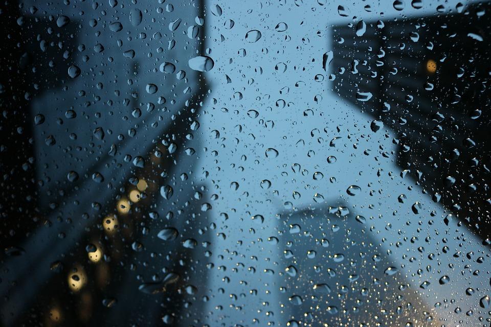 Rain, Raindrops, City, Weather, Water, Wet, Drop