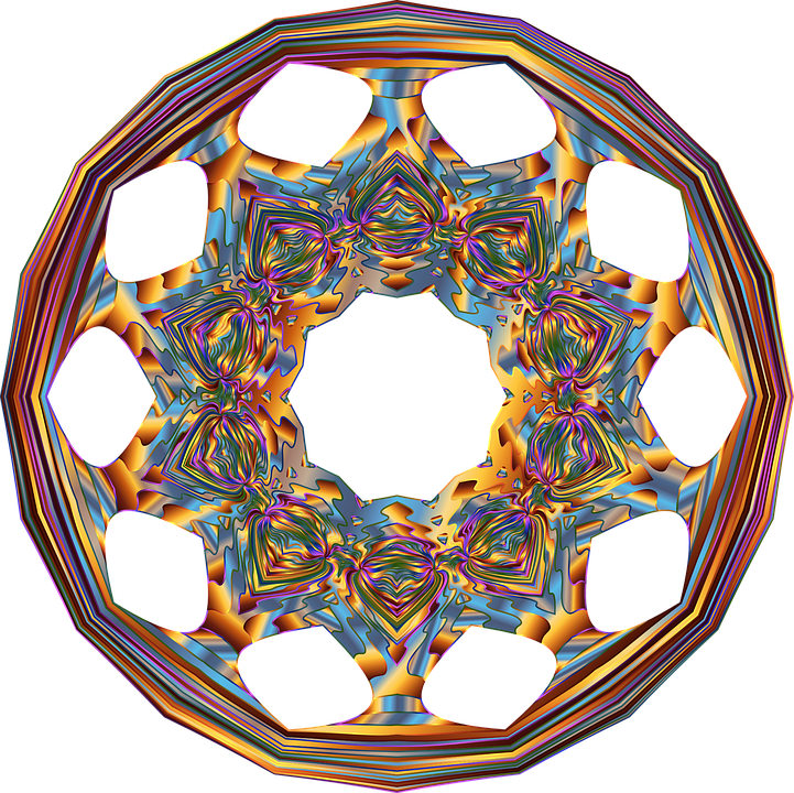 Colorful, Prismatic, Chromatic, Rainbow, Star, Abstract