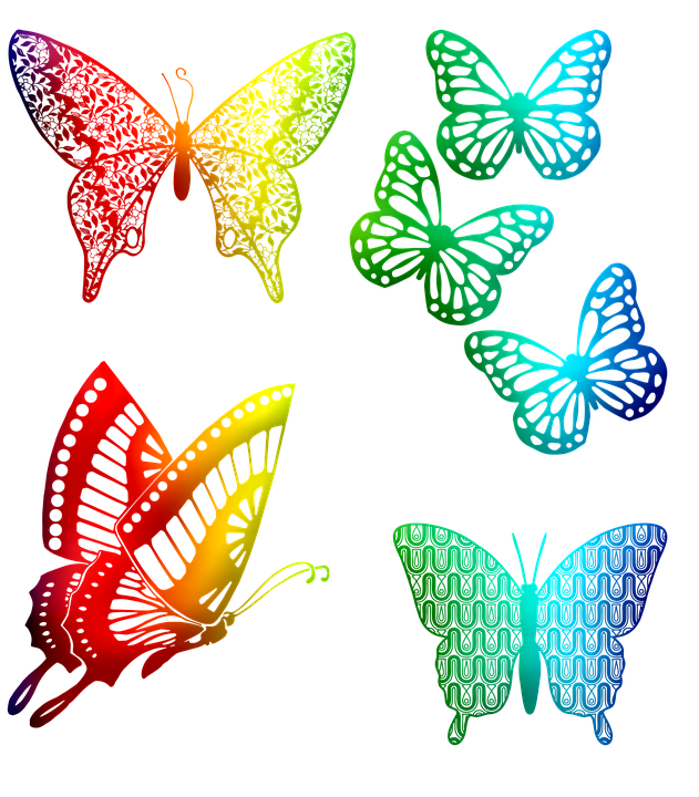Rainbow Butterflies, Scrapbooking, Spectrum, Flight