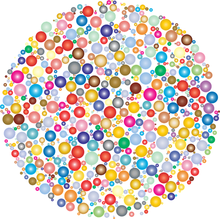 Colorful, Prismatic, Chromatic, Rainbow, Circles, Dots