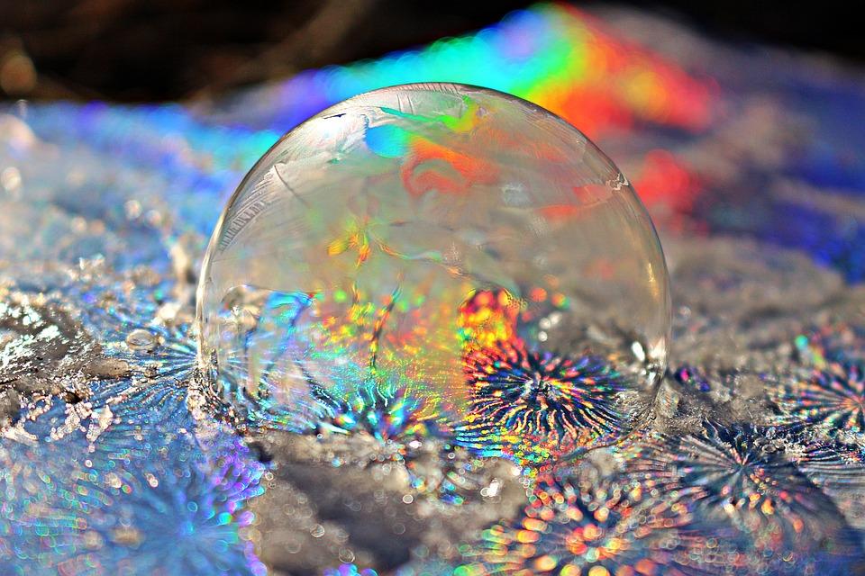 Frost Bubble, Rainbow, Soap Bubble, Colorful