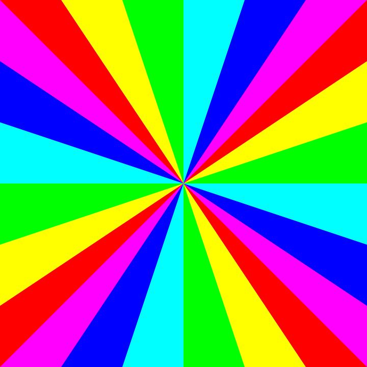 Rainbow Colors, Circular, Symmetry, Multi-colored