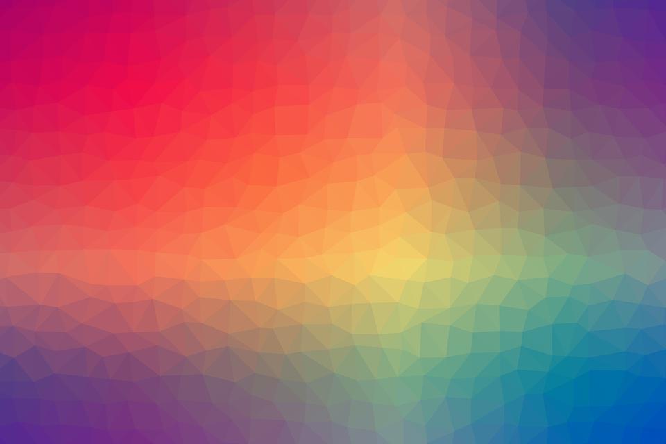 Colorful, Rainbow, Gradient, Geometric, Shapes