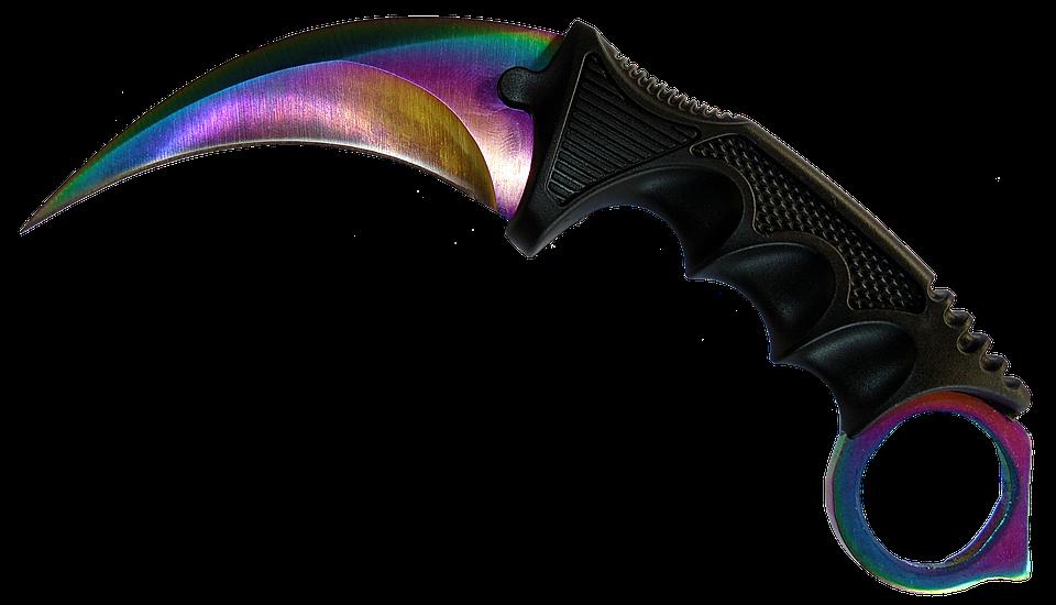 Knife, No Background, Handle, Edge, Rainbow