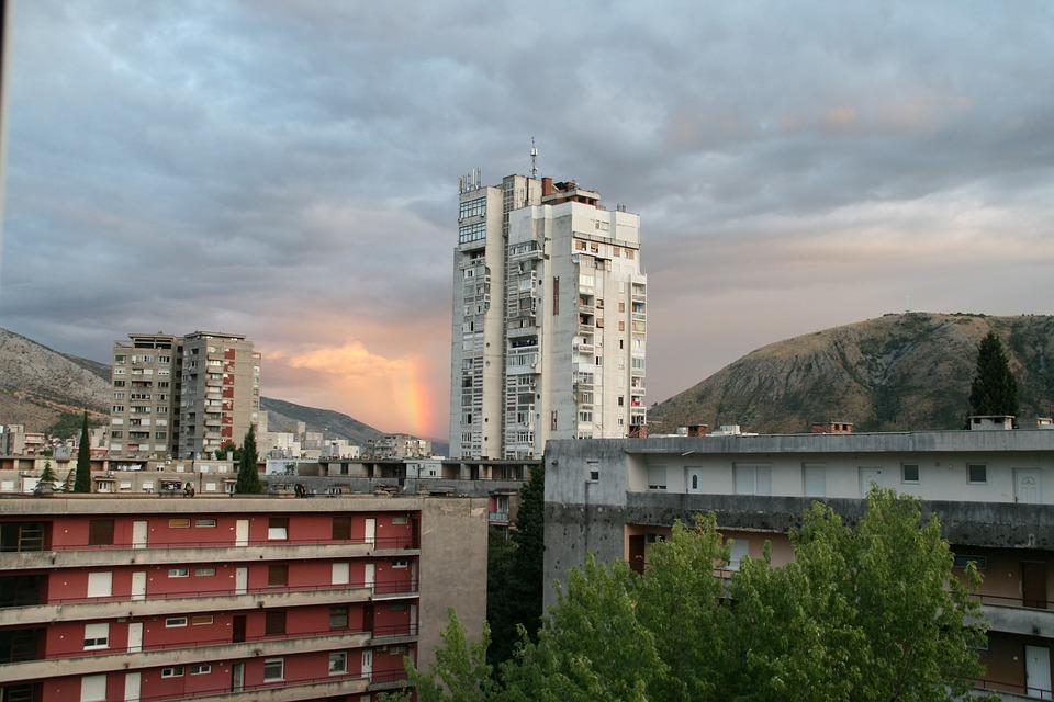 City, Mostar, Rainbow, Architecture