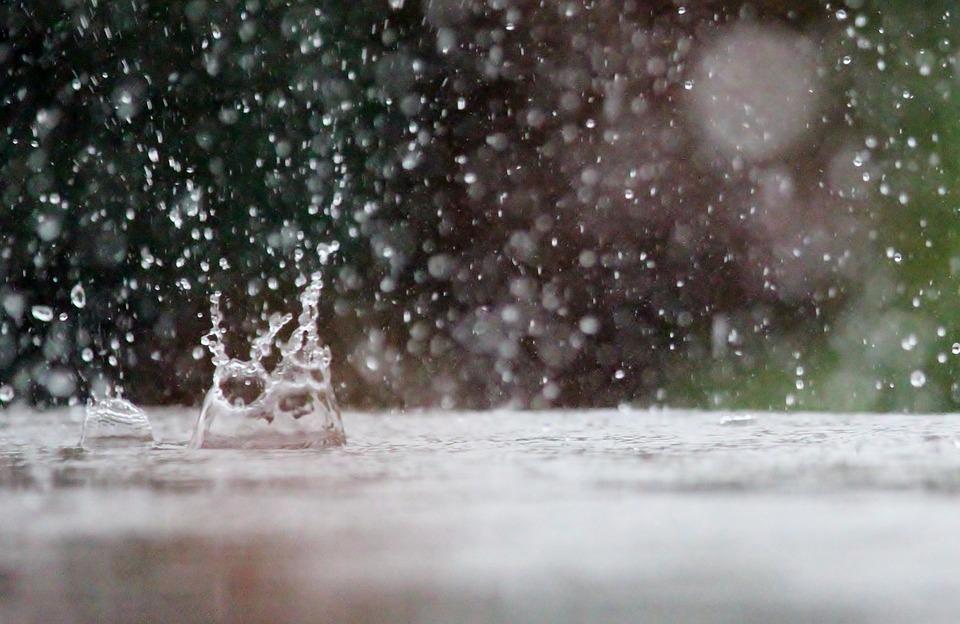 Drop Of Water, Rain, Table, Weather, Raindrop, Nature