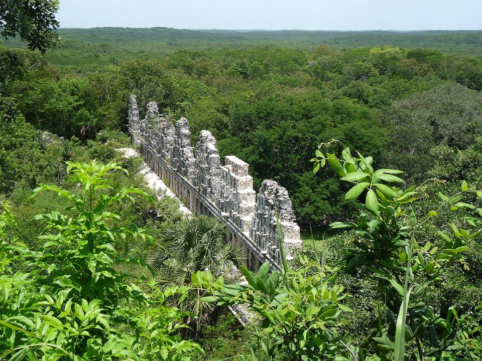 Mexico, Yucatan, Maya, Ruins, Rainforest