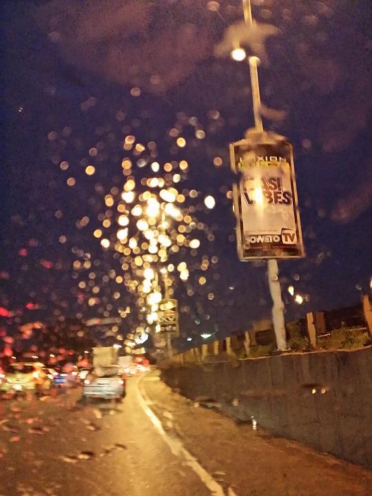 Blurry Vision, Blur, Night, Drive, Rain, Rainy