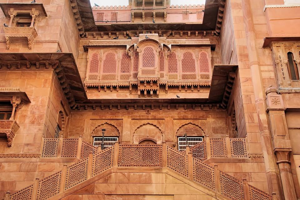 India, Rajastan, Bikaner, Junagarh, Fort, Red Sandstone