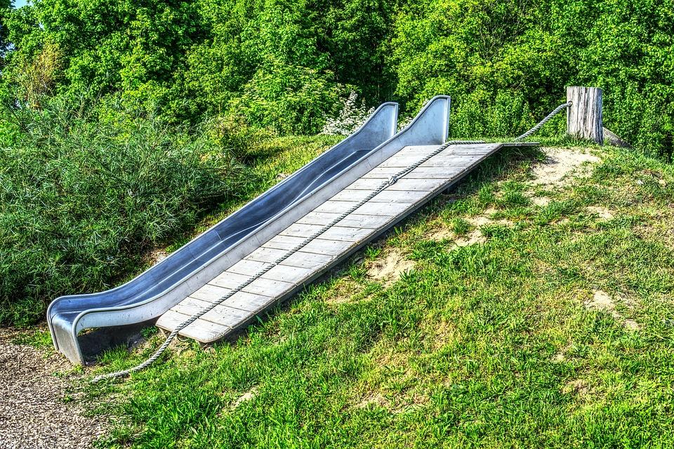 Slide, Playground, Wave Slide, Climbing Rope, Ramp