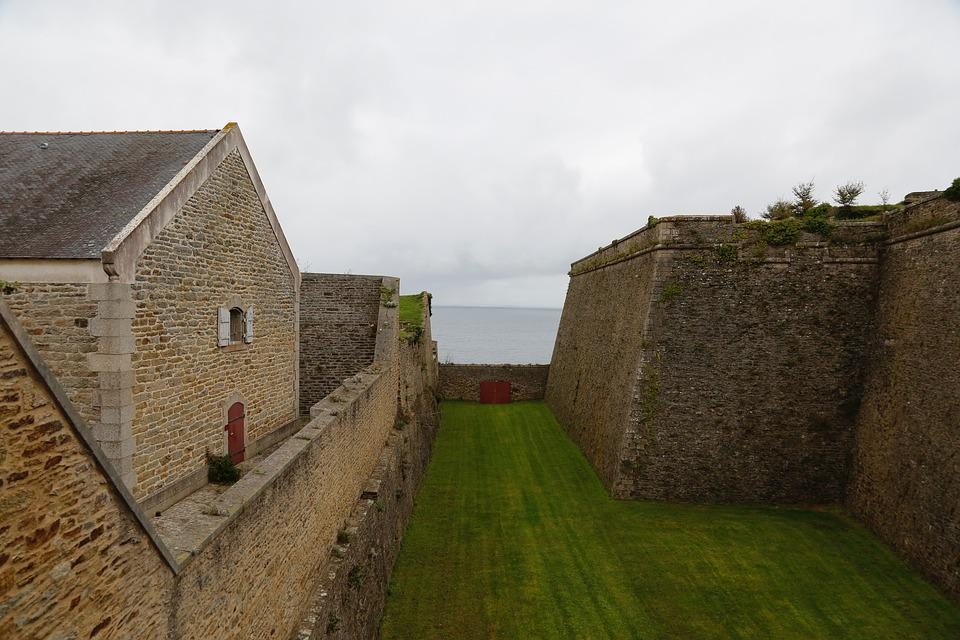 Fort, Rampart, Brittany, Fortification, Pierre, France