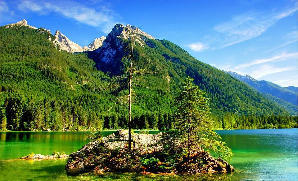 Ramsau, Hintersee, Mountains, Bavaria, Nature
