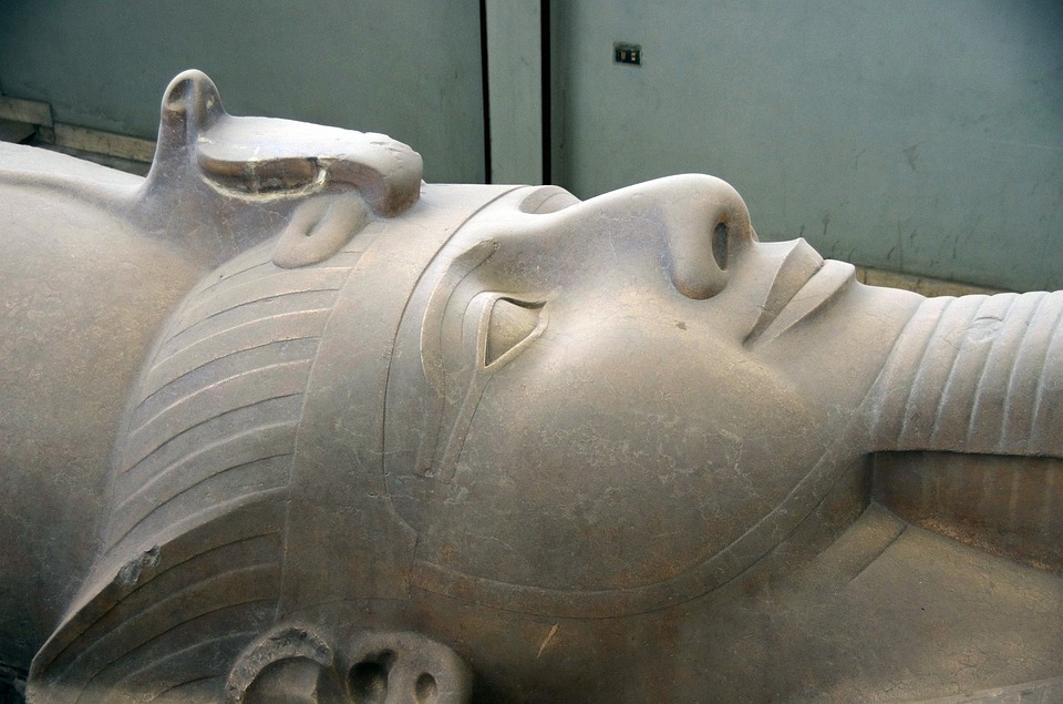 Egypt, Memphis, Ramsès2, Statue, Face, Pharaoh, History