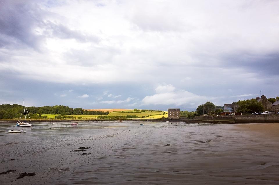 Rancid, Landscape, Beach, Sea, Sky, Village, Brittany