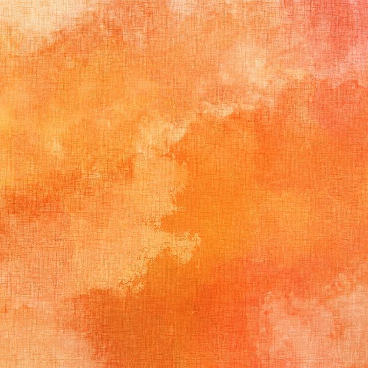 Orange, Canvas, Watercolor, Random, Pattern, Texture