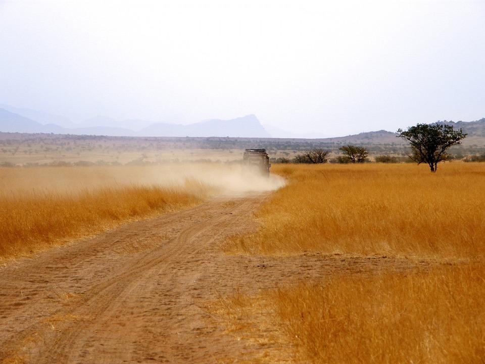 Range Rover, Vehicle, Dust Cloud, Grass, Yellow Grass