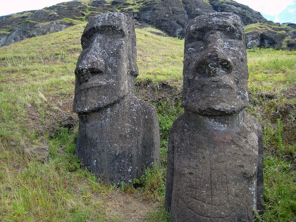 Easter Island, Rano Raraku, Stone Figure, Stone Heads