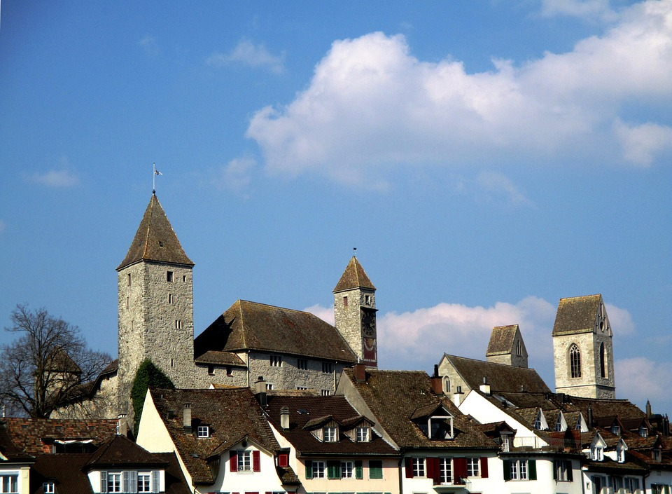 Rapperswil Jona, Canton St, Galllen, Castle, Old Town