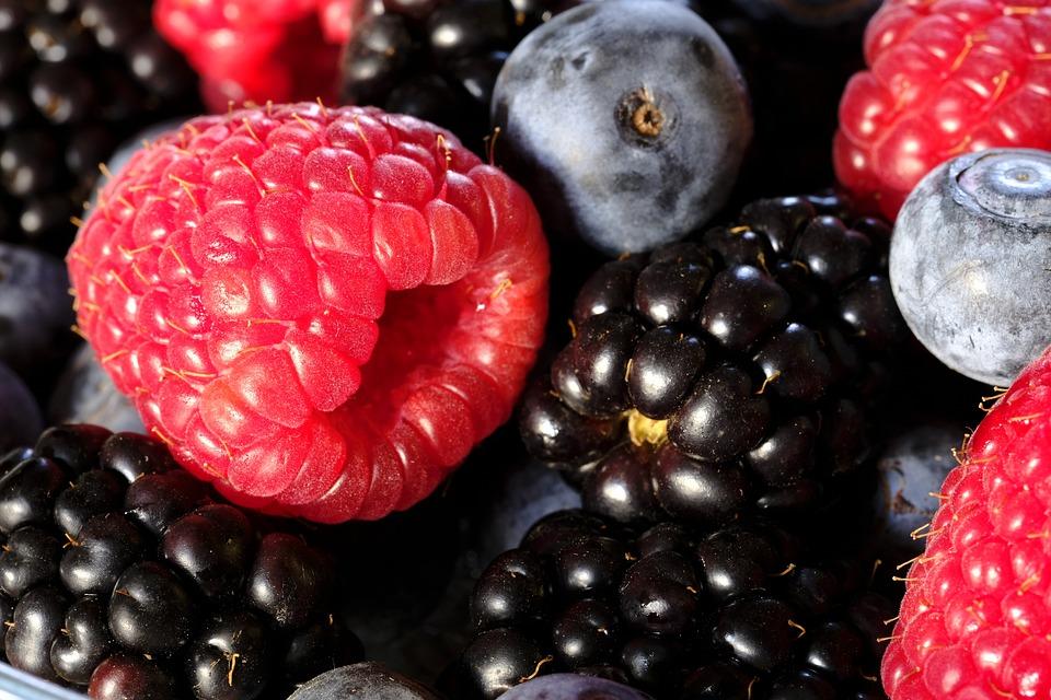 Berries, Raspberries, Blackberries, Blueberries, Fruit