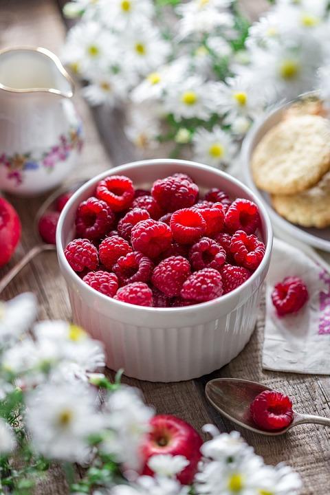Raspberry, Berry, Summer, Garden, Closeup, Harvest
