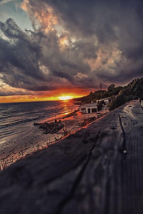 Sunset, Rate, Beach