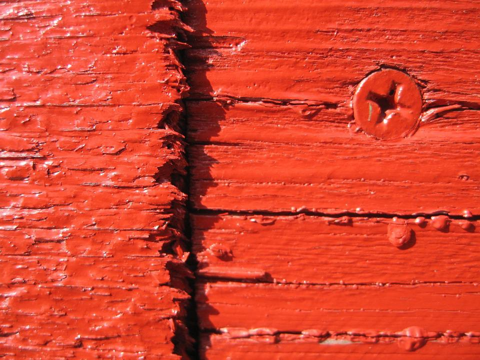 Screw, Wood, Red, Rauh