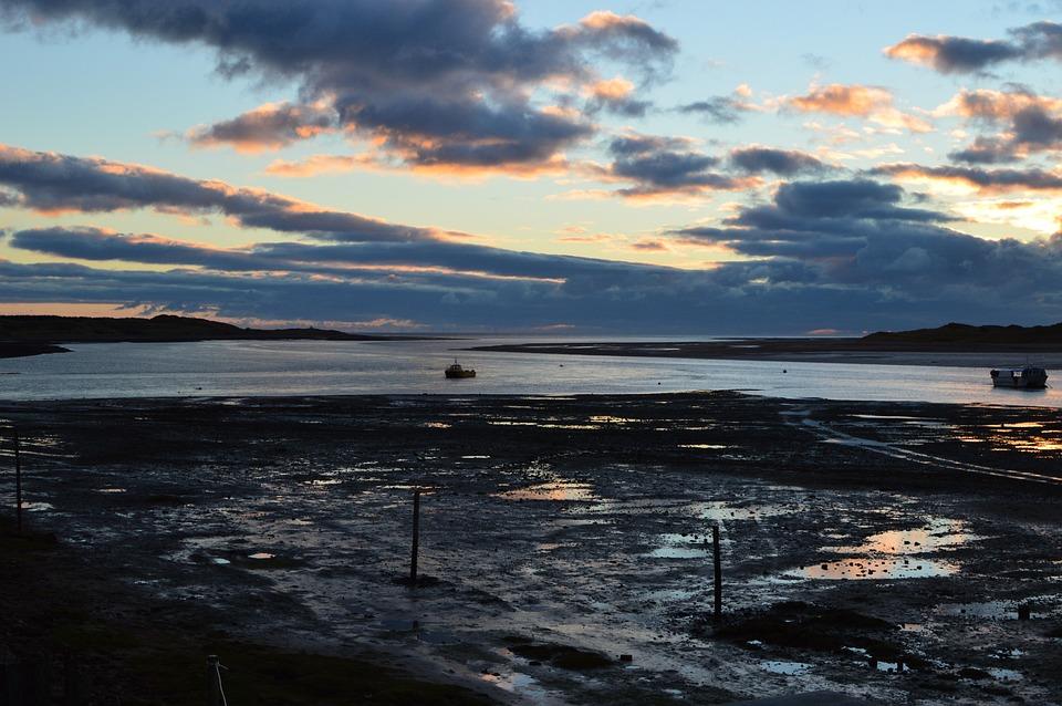 Estuary, Boats, Dusk, Raven Glass, Water, Landscape