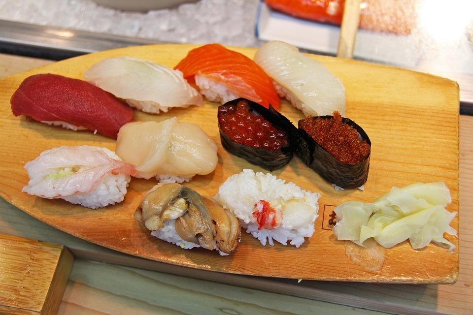 Free Photo Raw Shrimp Prawn Authentic Sashimi Roe Sushi Max Pixel