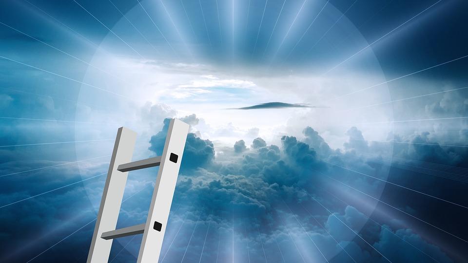 Head, Beyond, Clouds, Sky, God, Religion, Rays, Shining