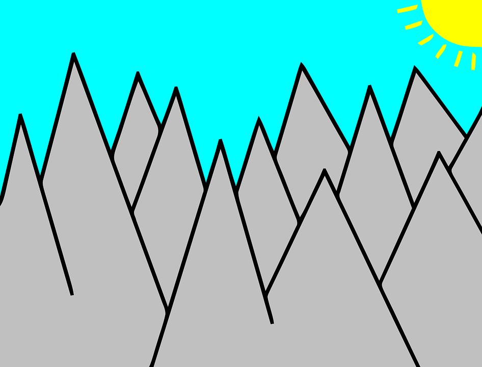 Mountain, Sun, Landscape, Rays