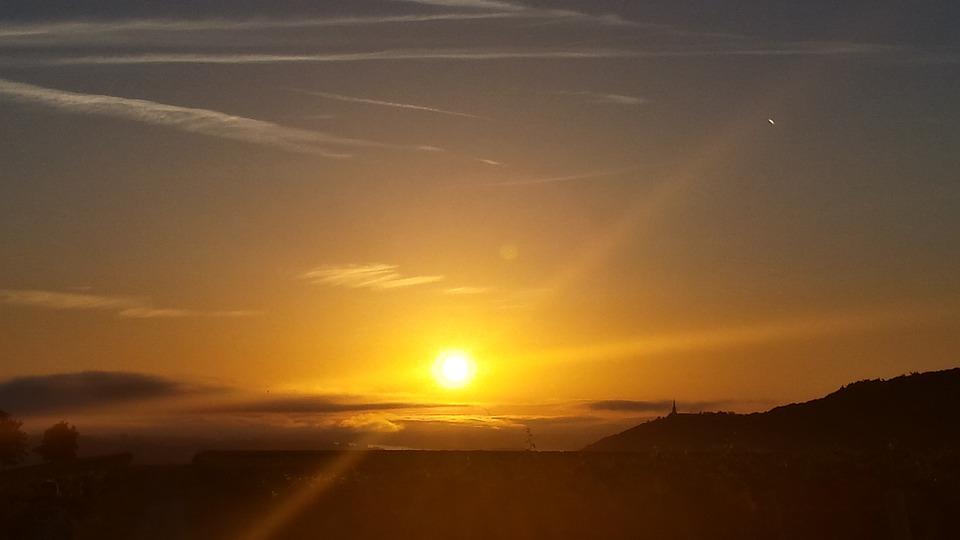 Sunrise, Sun, Light, Sky, Rays, Morning, Wake Up