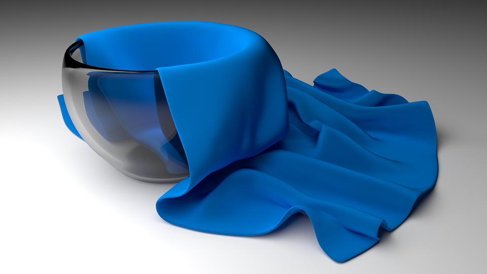 Bowl, Cup, Glass Bowl, 3d, Raytracing, Glass, Cloth