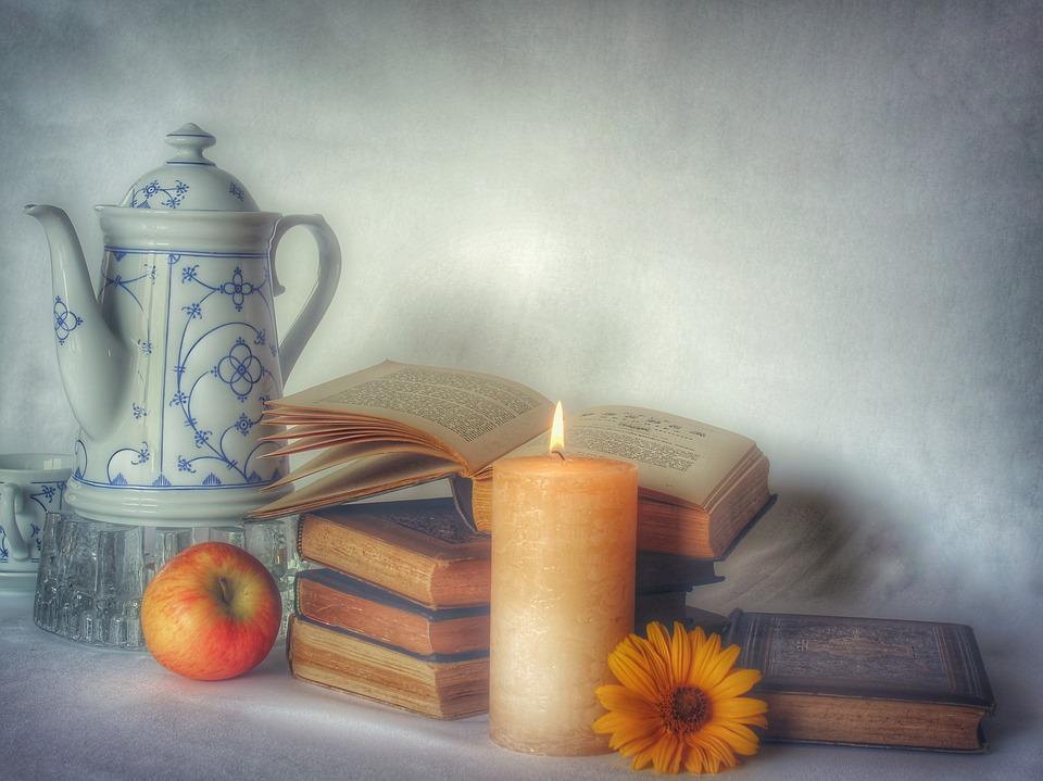 Still Life, Book, Read, Northern Germany, Indian Blue