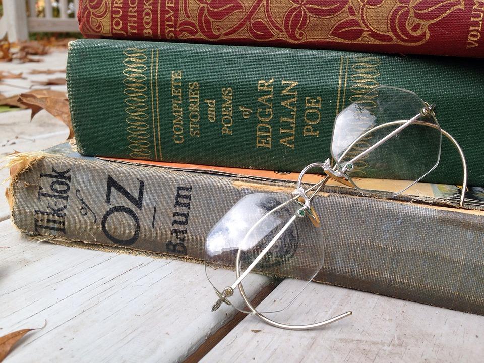Books, Reading, Old Books, Glasses, Vintage, Classics