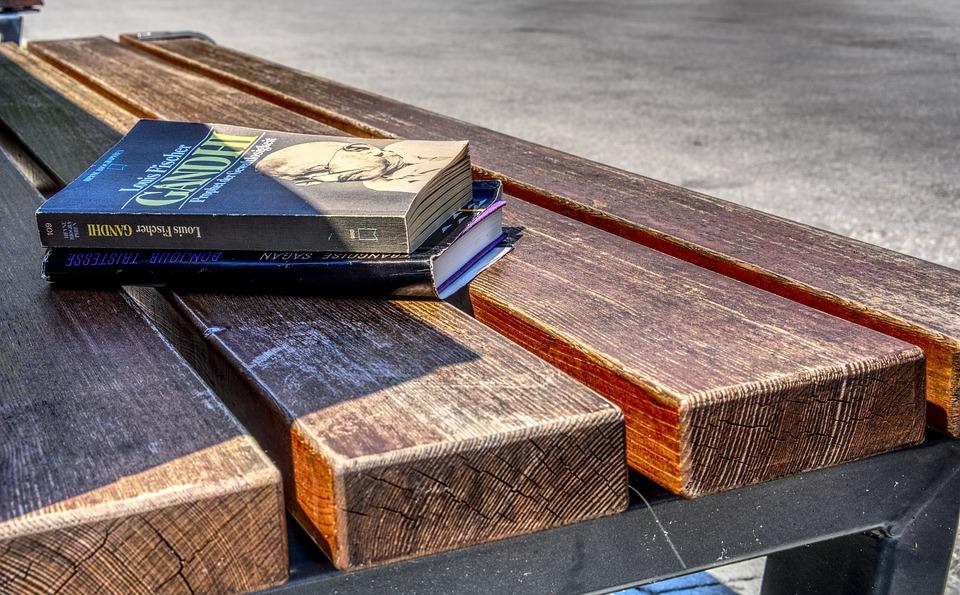 Books, Reading, Read, Park, Park Bench, Bank, Education