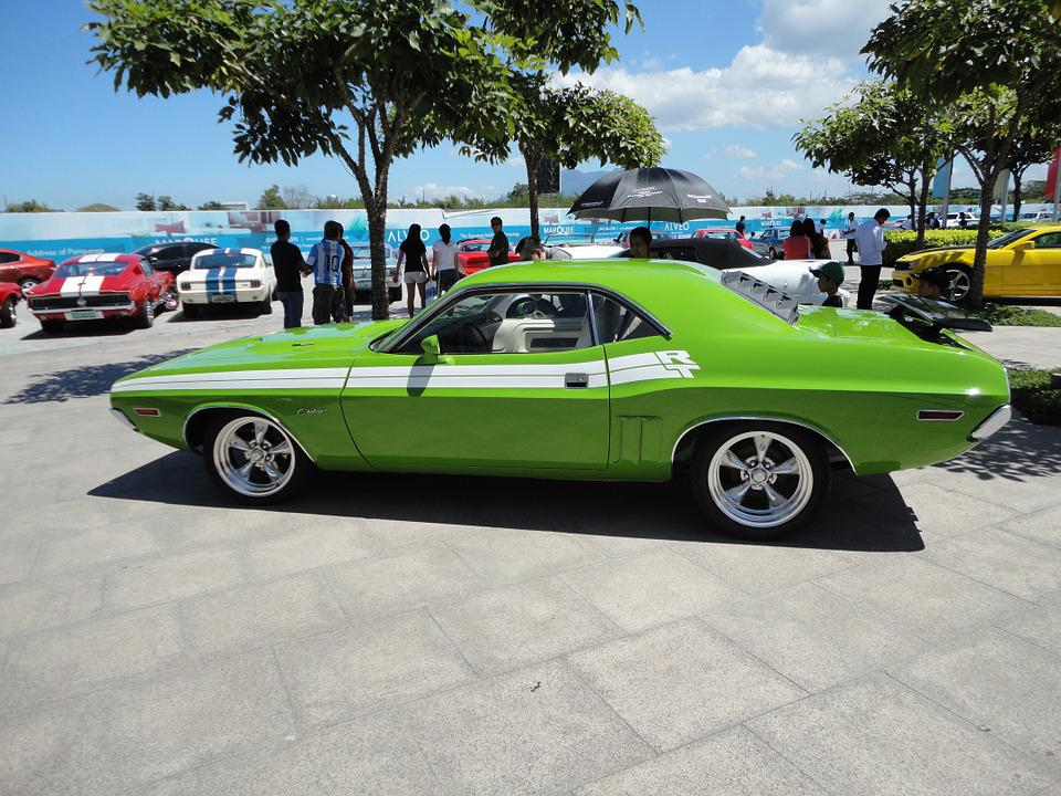 Free Photo Rear Green Retro Vintage Challenger Muscle Car Max Pixel