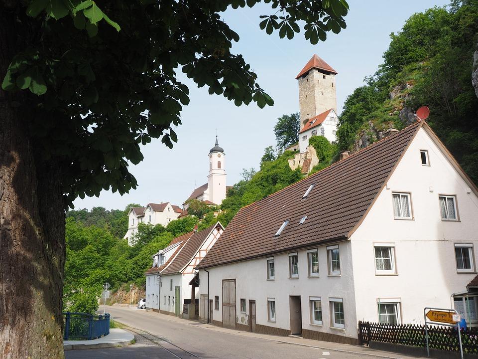 Rechtenstein, Village, Swabian Alb, Community