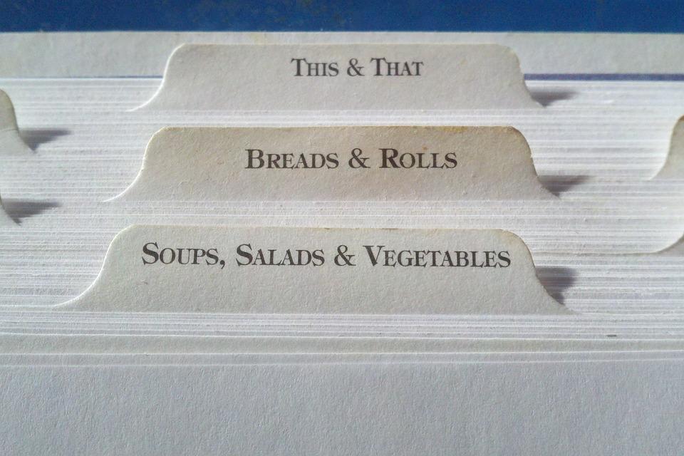 recipe tab index cards dividers print food book
