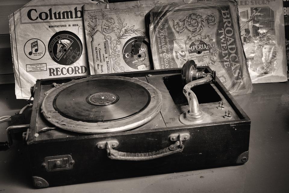 Record Player, Records, Old, Vinyl, Retro, Turntable