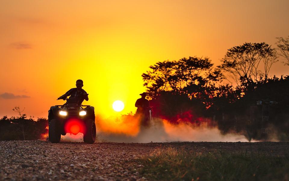 Quad, Drift, Dust Horse, Recreation, Sport, Motocross