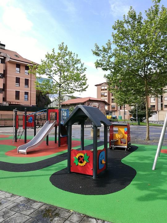 Recreation Space, Lawn, Street, Sidewalk