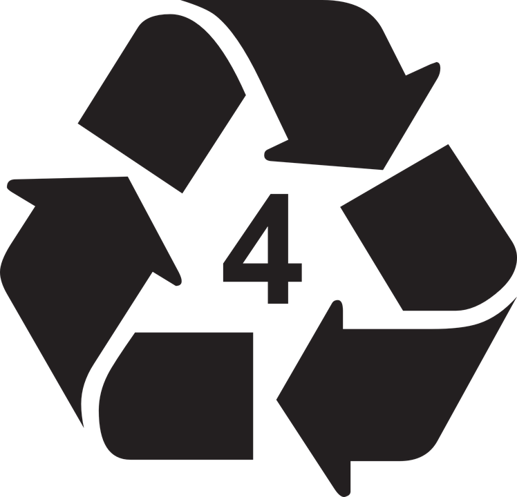 Recycle, Recycling, Recyclable, Type, 4, Symbol