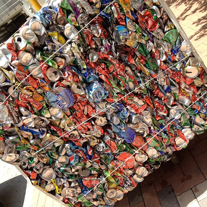 Stack, Trash, Cans, Recycling, Recycle, Garbage, Junk