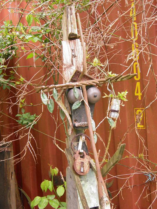 Sculpture, Garden, Recycled, Creative, Found, Iron