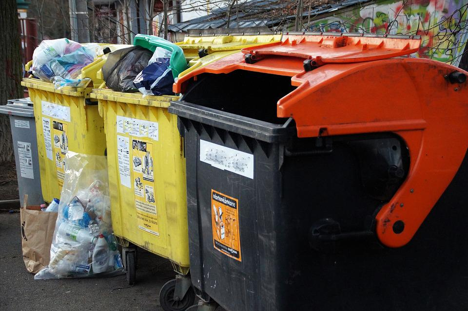 Containers, Sorted, Waste, Liquidation, Recycling, Bin